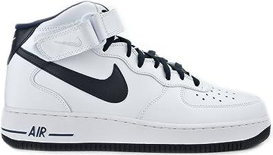 cuero Becks Espere  Amazon.com | Nike Air Force 1 Mid White/White, Dark Obsidian Mens Fashion  Sneakers 315123-107 (9.5 M) | Fashion Sneakers