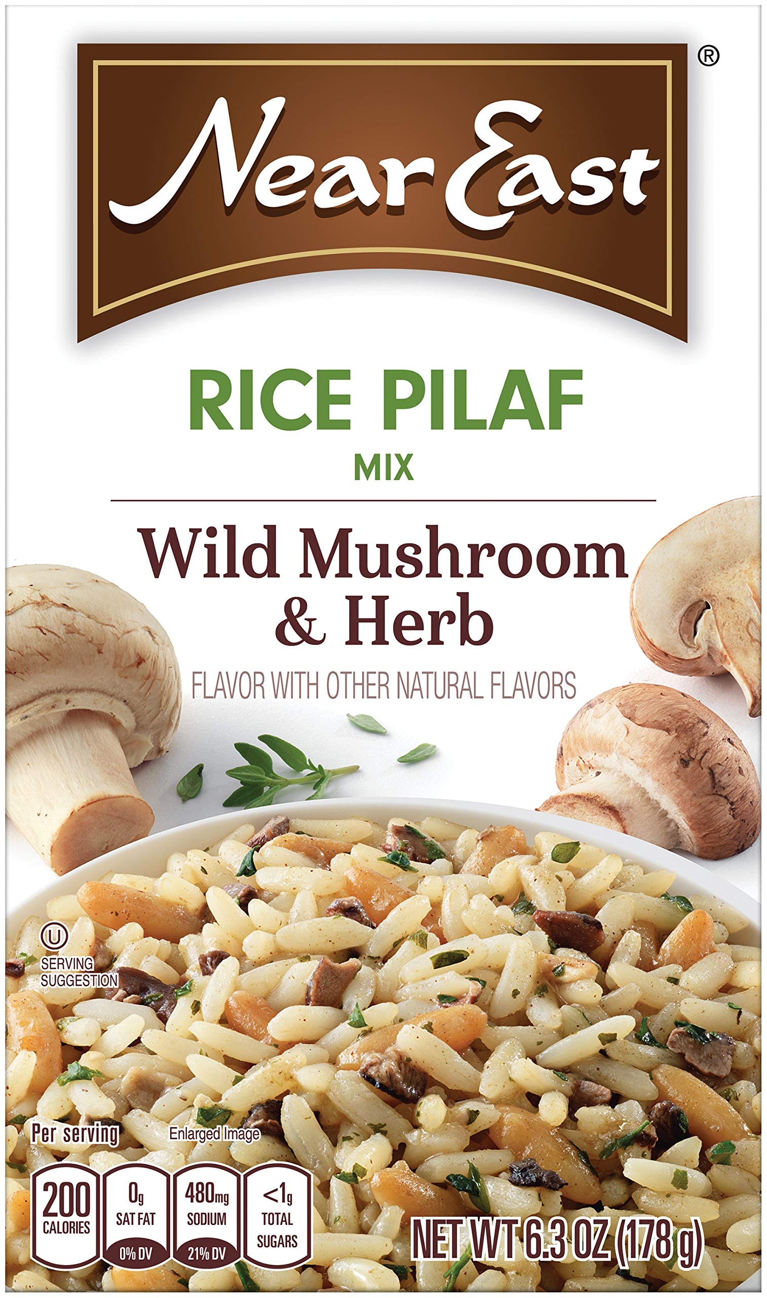 Near East Wild Mushrooms & Herbs Rice Pilaf Mix 6.3oz (Pack of 12 Boxes) by Quaker
