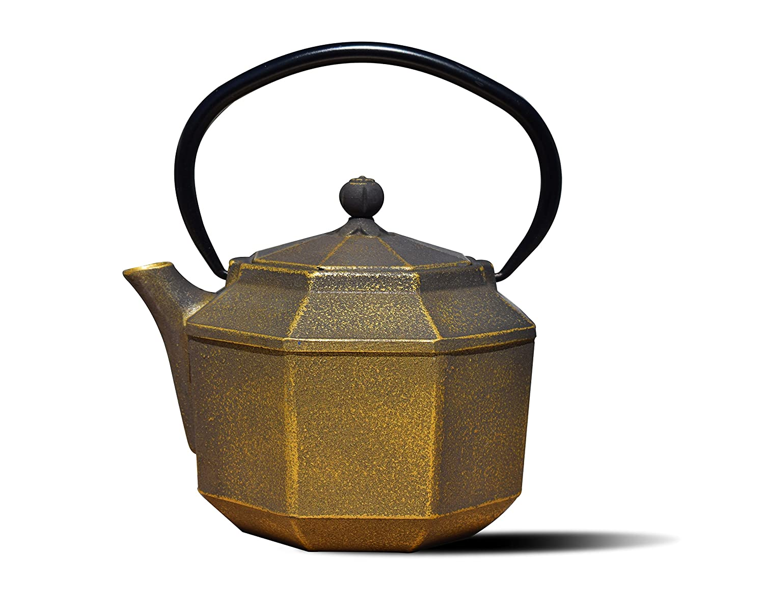 Old Dutch 1068BC Black/Gold Cast IronPagoda Teapot, 28 oz Old Dutch International