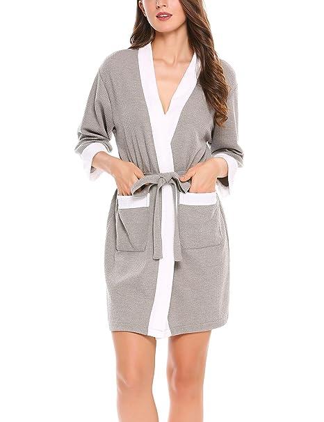 Hotouch Albornoz mujer, bata, sauna, kimono, pijama, camisón,