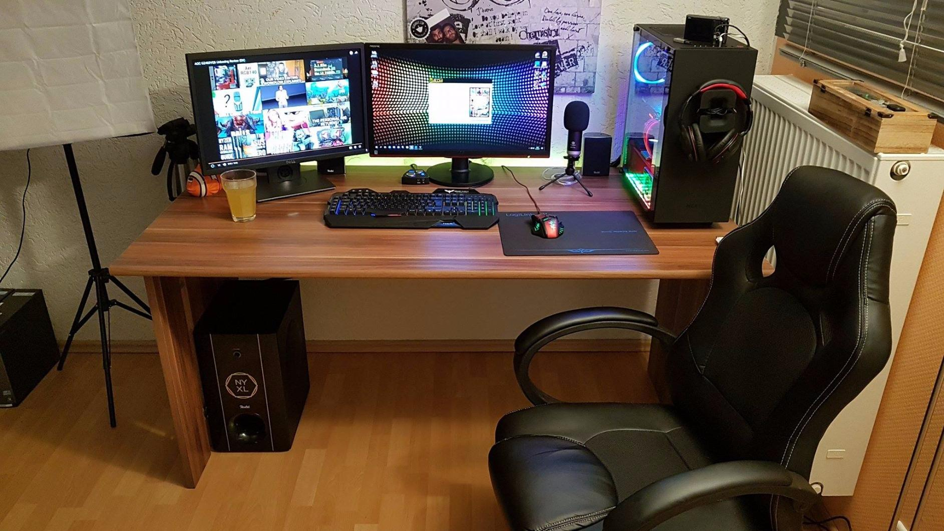 gaming schreibtisch vergleich 2018 14 pc tische f r gamer. Black Bedroom Furniture Sets. Home Design Ideas