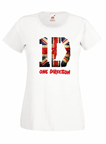 T-shirt Donna 1D – Union Jack maglietta One Direction 100% cotone LaMAGLIERIA