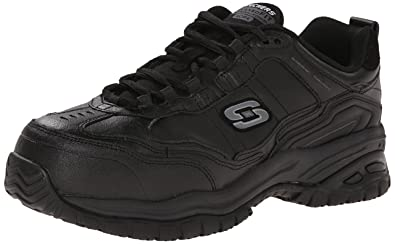 Skechers for Work Mens Soft Stride-Chatham Lace-Up,Black,7 M