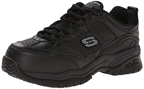 9fa1fb14c0cca Skechers for Work Men's Soft Stride-Chatham Lace-Up Slip Resistant Sneaker