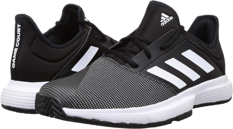 Adidas Herren Gamecourt M Turnschuh Core Black Ftwr White Grey Six