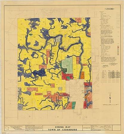 Cedarburg Wisconsin Map.Amazon Com Historic Map Cedarburg Wisconsin 1967 Zoning Map