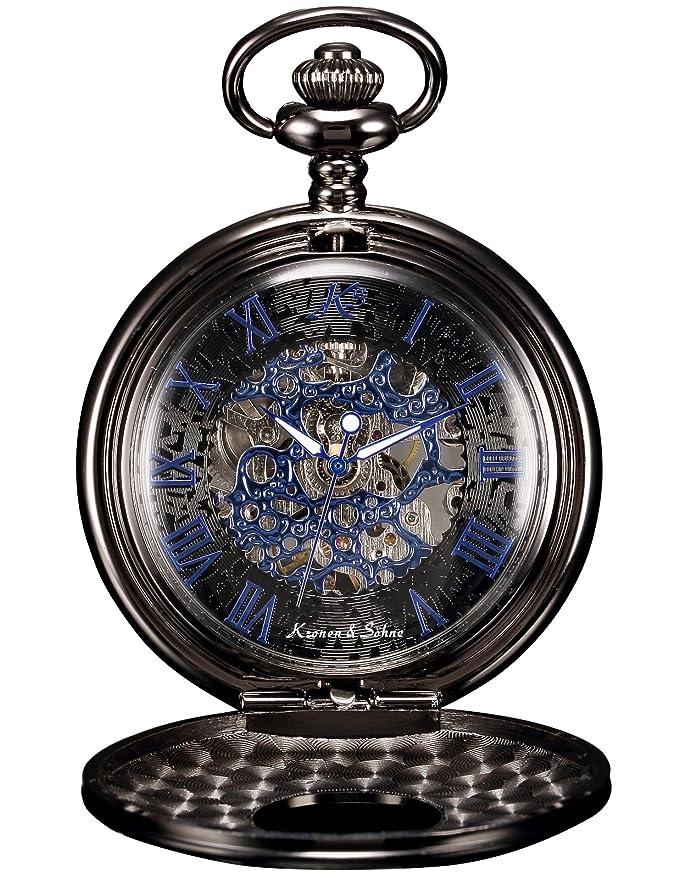 26 opinioni per KS KSP032- Orologio meccanico da uomo, scheletro con numeri romani, orologio da