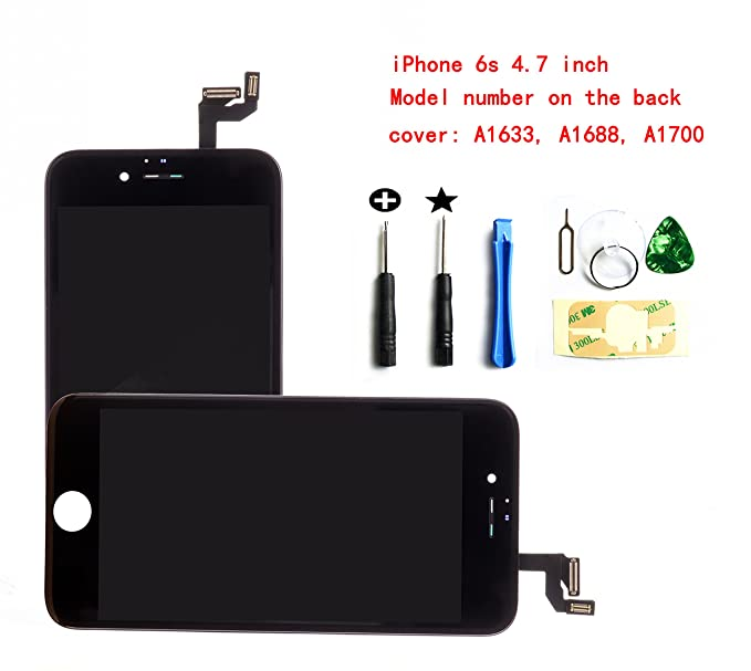 Image Unavailable. Image not available for. Color  Black iPhone 6S 4.7 inch LCD  Screen Replacement Full digitizer Assembly ... 41bafaccb1