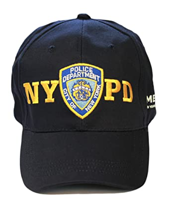 memorial baseball hat new york police department navy one size nypd caps cap uk official