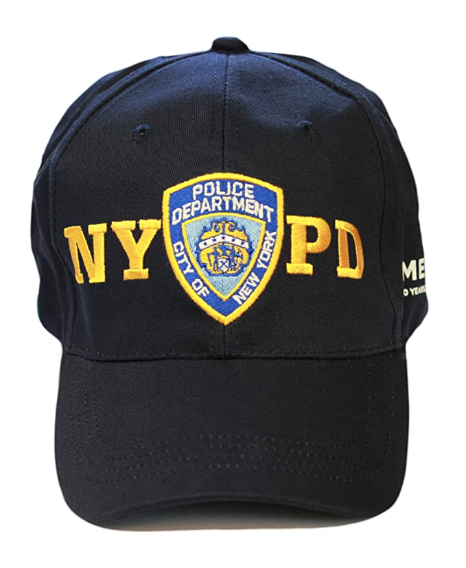 official nypd baseball cap hatzolah caps amazon memorial hat new york police department navy one size clothing