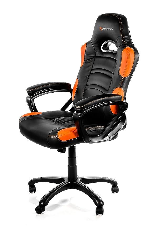 87 opinioni per Arozzi- Enzo sedia da Gaming, Nero Arancione, 50 x 55 x 130