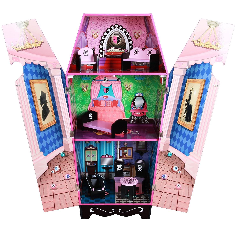Amazon Teamson Kids Vampire Villa Coffin Wooden Doll House