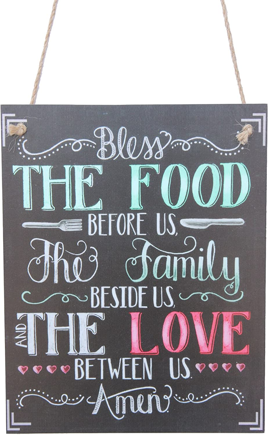 The Food Before Us The Family Beside Us The Love Between Us Chalk Sign By meijiafei
