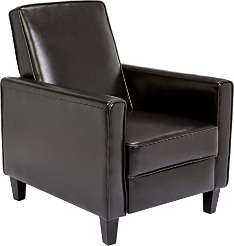 First Hill Junia Recliner Club Chair, Espresso Bean