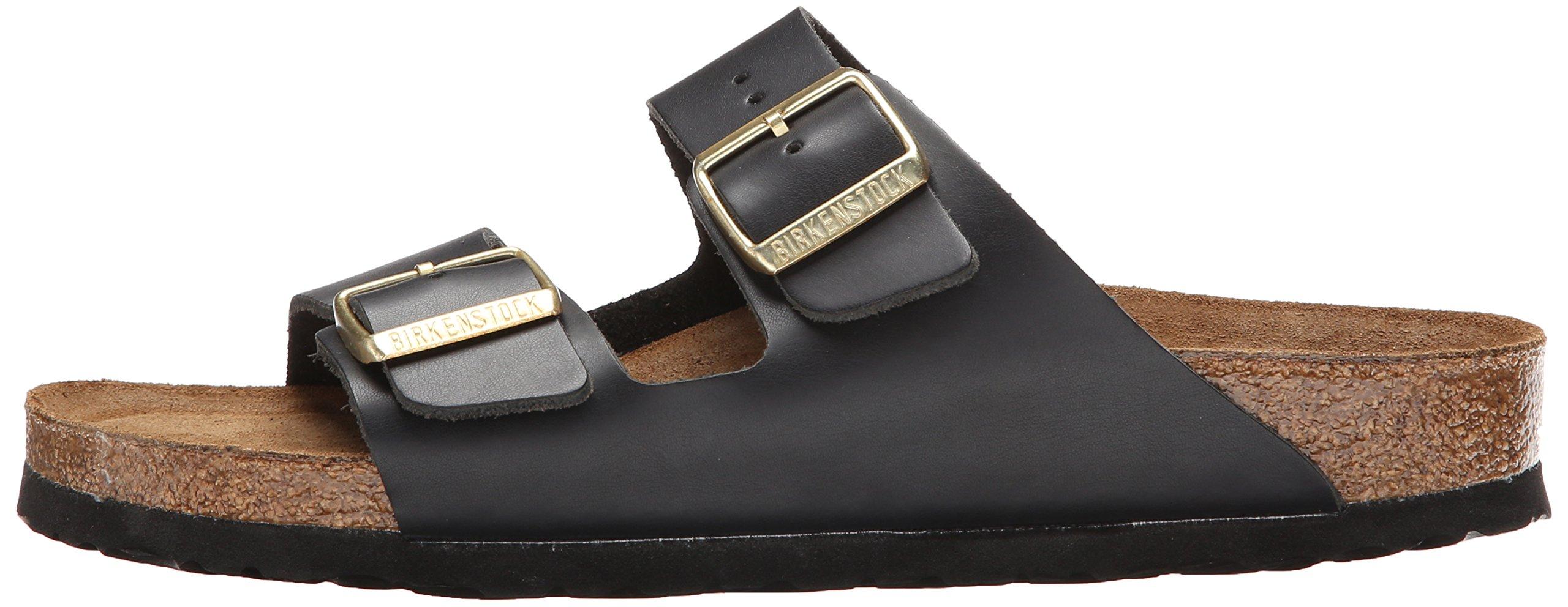 Birkenstock Unisex Arizona Hunter Black Leather Sandals - 9-9.5 2A(N) US Women/7-7.5 2A(N) US Men by Birkenstock (Image #5)
