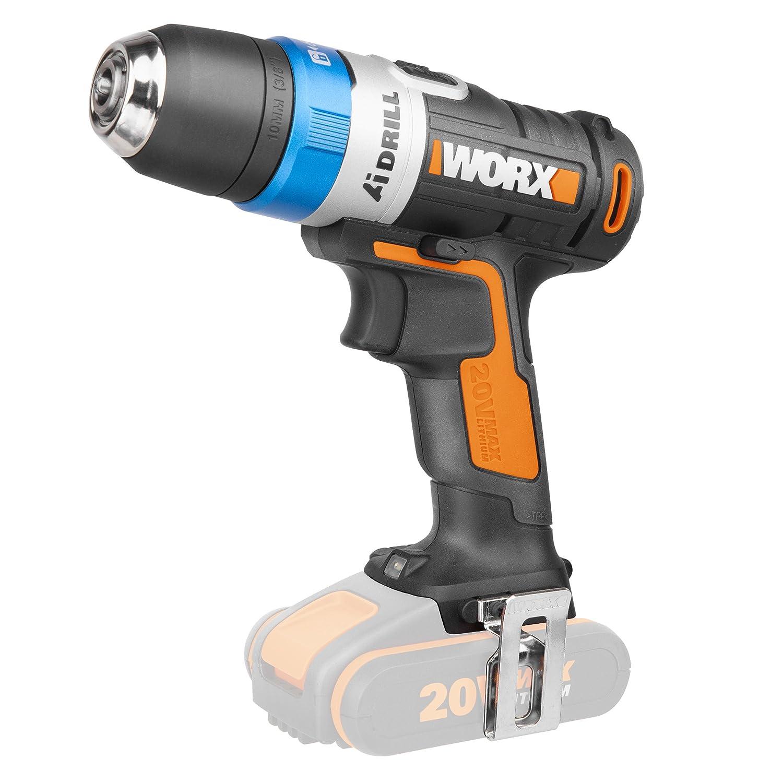 Worx WX178.9 Taladro Atornillador, 0 W, 20 V, Negro y Naranja