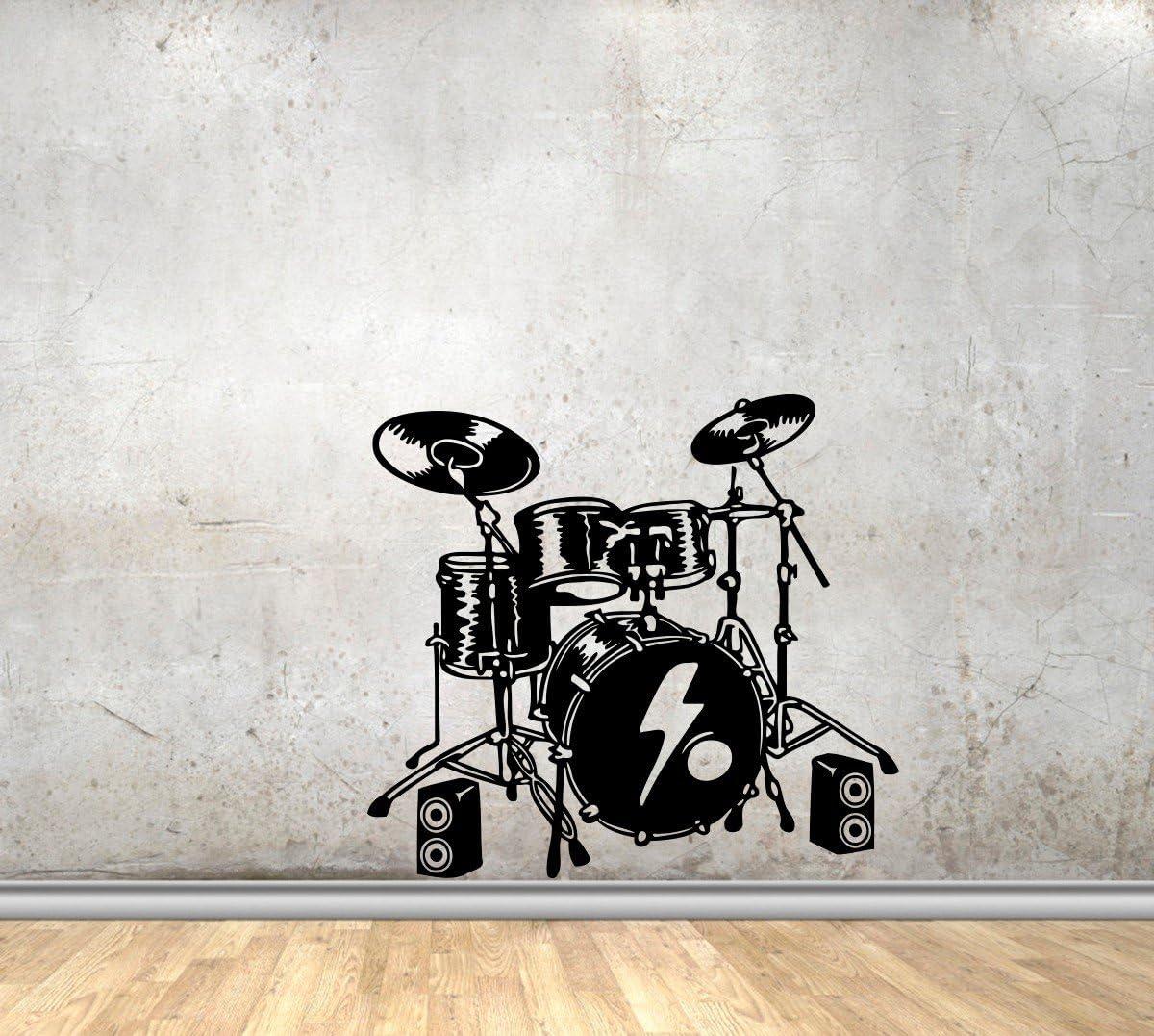 Drum Kit Wall Art Sticker 3 sizes