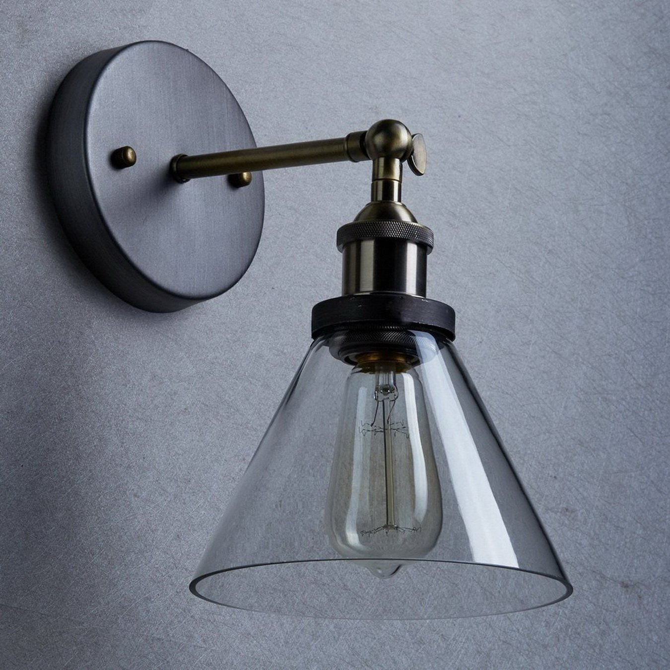 YOBO Lighting Industrial Edison Vintage Glass Ceiling Wall Sconce ...
