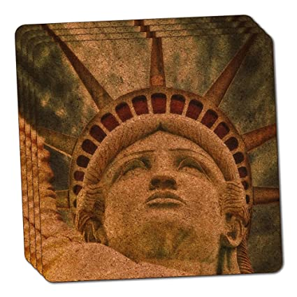 Liberty Is Lovely Lady >> Amazon Com Lovely Lady Liberty Thin Cork Coaster Set Of 4 Coasters