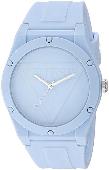 Guess - Reloj de pulsera informal de silicona con logotipo para mujer: Amazon.es: Relojes
