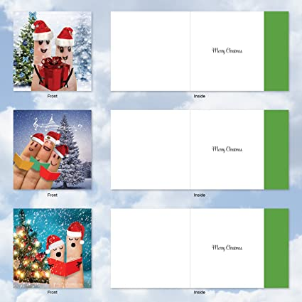 DIN a4 Large Cute Santa Card Christmas Card-Text Changeable-With Envelope