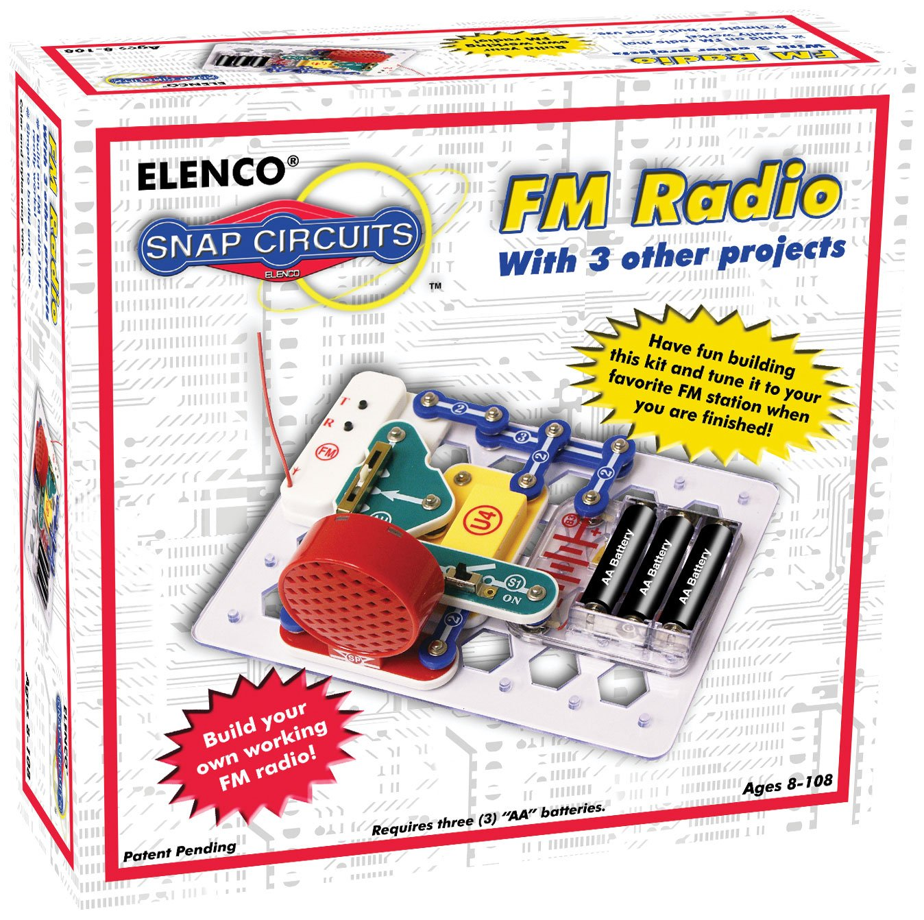 Snap Circuits Fm Radio Kit Toys Games Simple Crystal Schematic Free Image About Wiring Diagram And