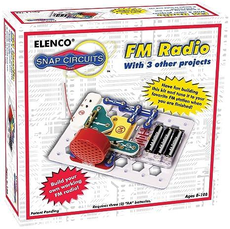 amazon com snap circuits fm radio kit toys games rh amazon com