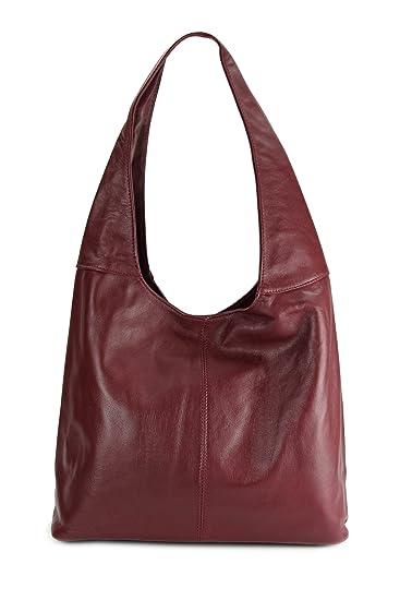 6ba214cd35463 Belli ital. Leder Handtasche Schultertasche Modena Damen Ledertasche  Umhängetasche - Farbauswahl - 37x30x13 (B
