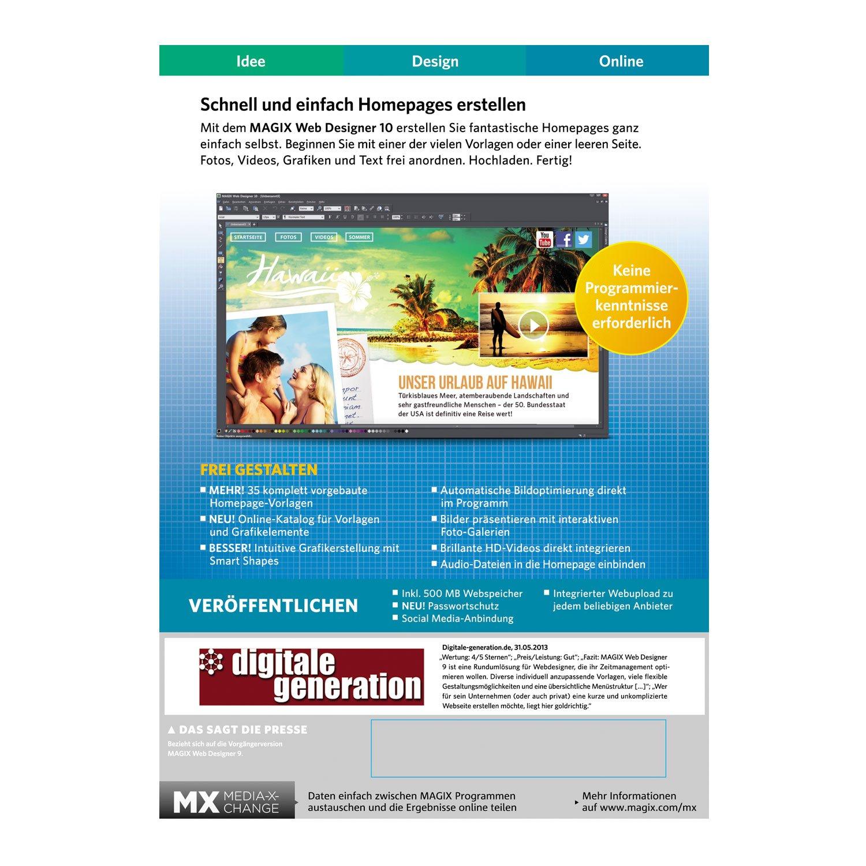 MAGIX Web Designer 10: Amazon.de: Software
