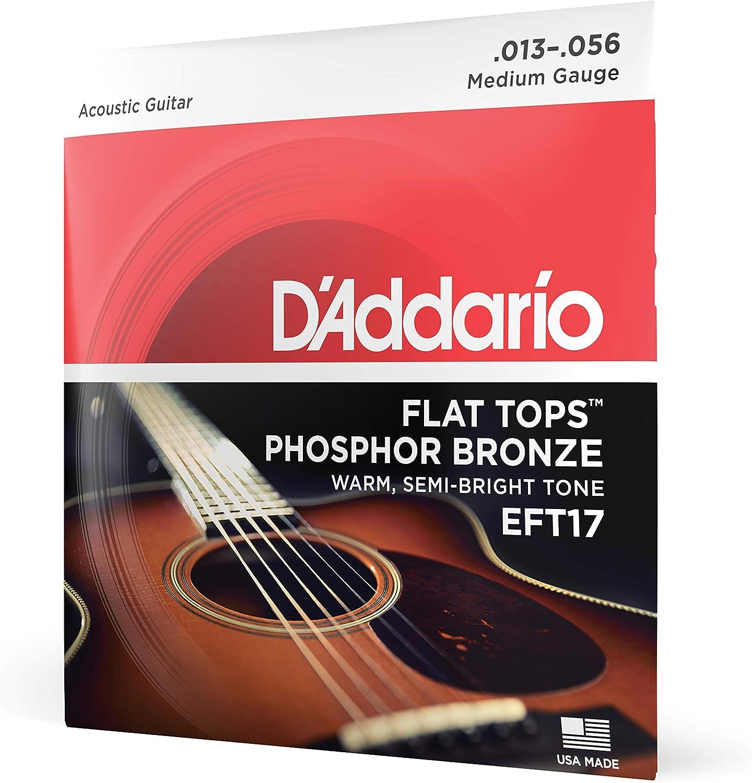 DAddario EFT13 - Juego de cuerdas para guitarra acústica de fósforo/bronce.016 - .056: Amazon.es: Instrumentos musicales