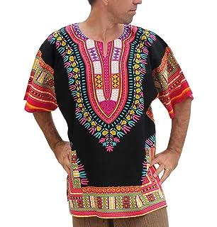 5d928c6be68 RaanPahMuang Unisex Bright Africa Heart Dashiki Cotton Plus Size ...