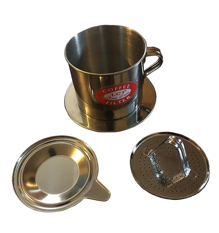 Juego de filtros de café vietnamita, pour over goteo estilo, Lento Cafe de goteo eléctrica, Brew una sola taza de servir de helado ca PHE Sua da, ...