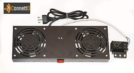 Módulo 2 Ventiladores Conector con termostato para armarios Rack ...