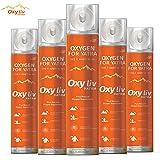 OXY99 OXY LIV YATRA Portable Pure Oxygen Gas Cylinder/Can for Kedarnath/Leh/Laddakh/Vaishno Devi Yatra, 36L - Pack of 6