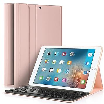 "8515b07dfc1 IVSO New iPad 9.7"" 2018/2017 Keyboard Case [QWERTY layout], Slim"