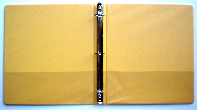 BOX OF 12 YELLOW 3 RING 1 VIEW BINDER 8.5 X 11