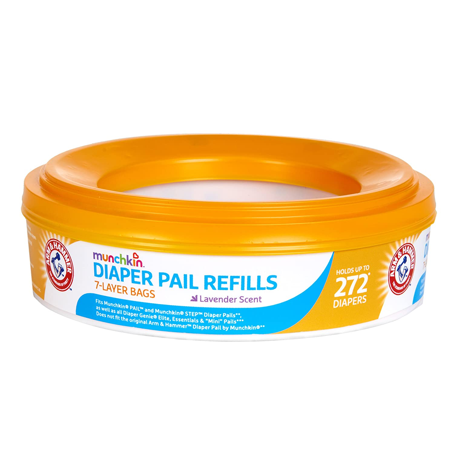 Munchkin Arm and Hammer Diaper Pail Refill Rings-1 Piece Orange 16122