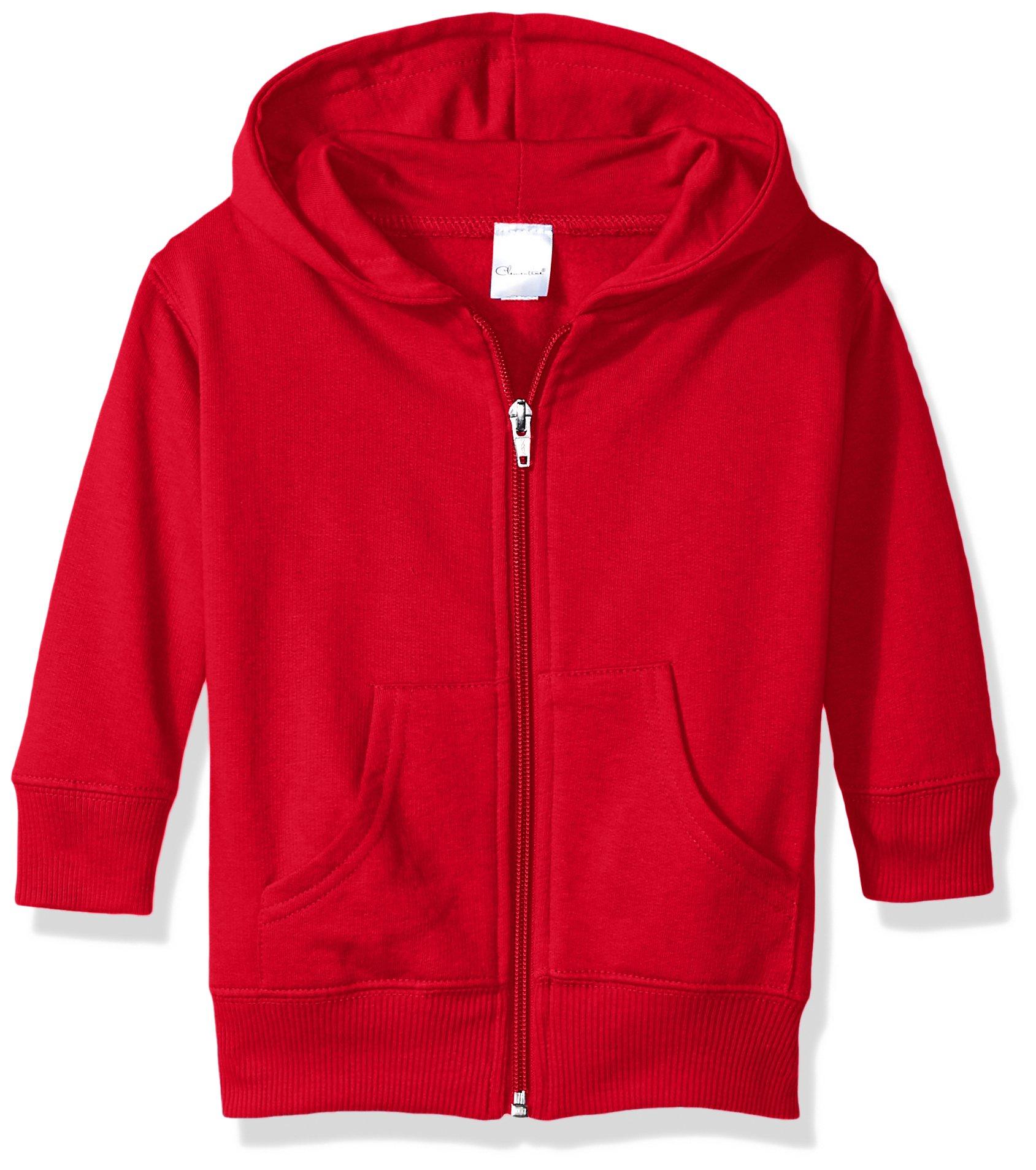 Clementine Baby Infant Premium Fleece Zip Sweatshirt Hoodie, RED, 12MOS by Clementine