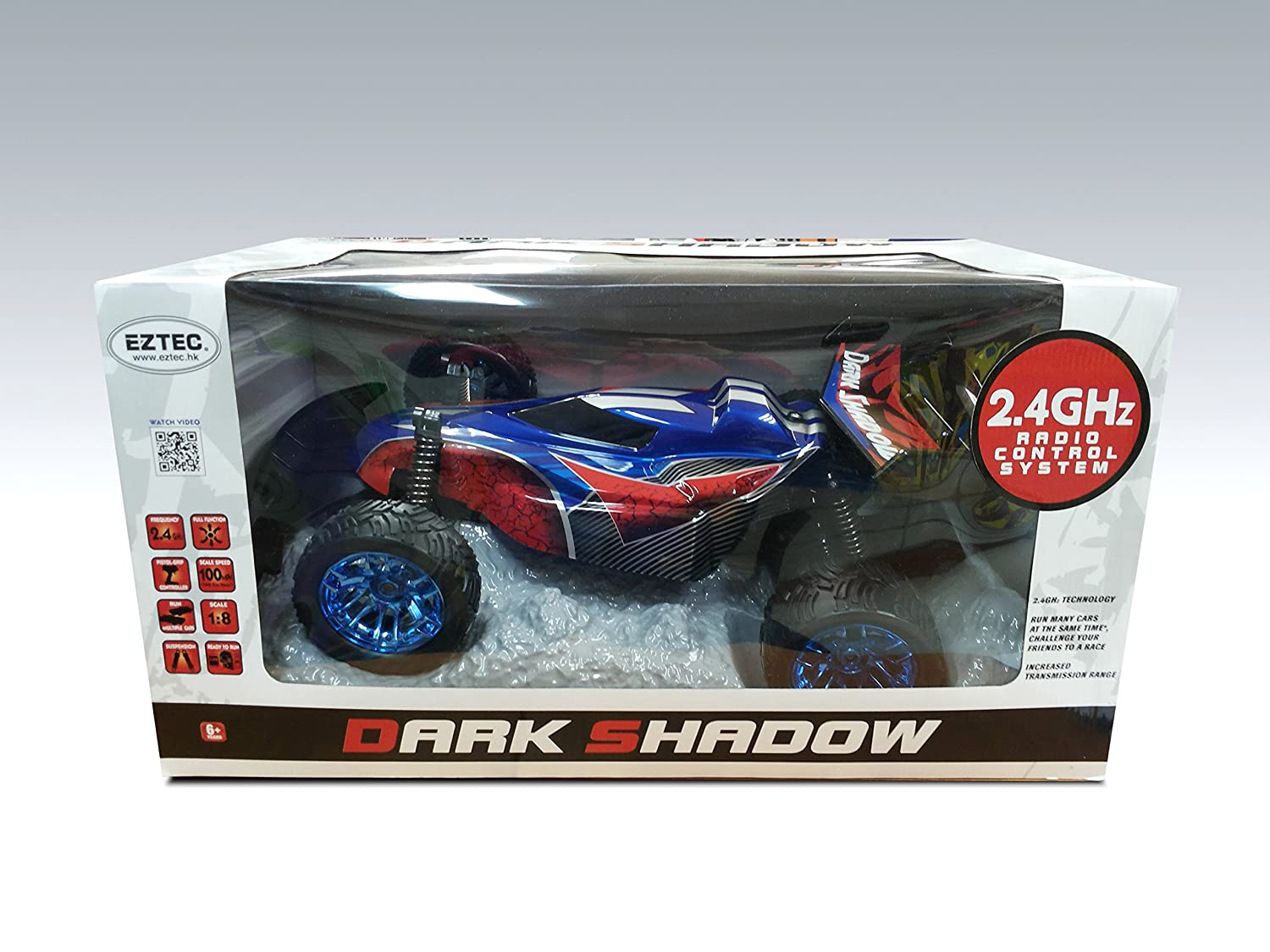 Amazon.com: JC Toys Dark Shadow 2.4GHz Remote Control Racing Buggy Car (1:8 Scale): Toys & Games