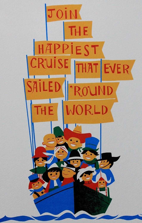 PH586 #m Disneyland Decor Disney Prints Poster Magic Kingdom Dark Water Ride Blueprint Its a Small World Amusement Ride Poster Print