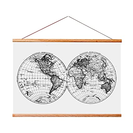 Amazon.com: Landmass 17x24 Frame for Scratch Off Map. Magnetic ...