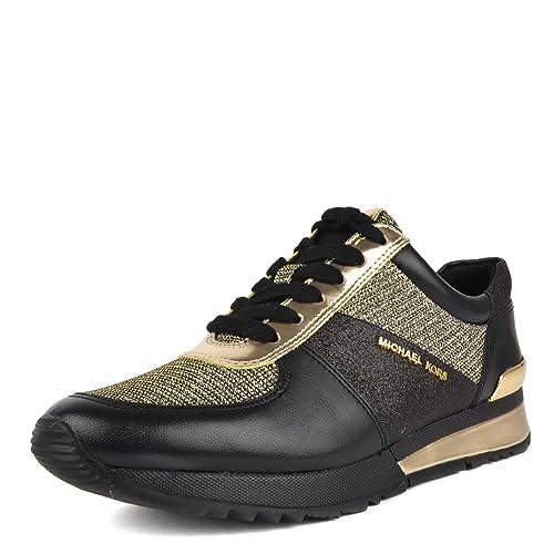 9878dc95be Michael by Michael Kors Scarpe Allie Sneaker Nero e Oro Donna 39 Nero/Oro:  Amazon.it: Scarpe e borse