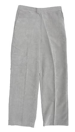 194482b6481c5 Alfred Dunner Glacier Lake Flat Front Corduroy Pants Pearl Grey 14 M