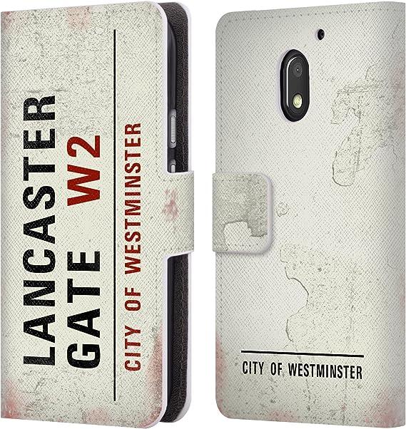 Oficial City Of Westminster Señales stradali Vintage 2 Carcasa Tipo Cartera de piel Para Motorola Teléfonos: Amazon.es: Electrónica