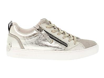 9f2cad3ce04309 CRIME London Damen 25233KS126 Silber Gold Leder Sneakers  Amazon.de ...