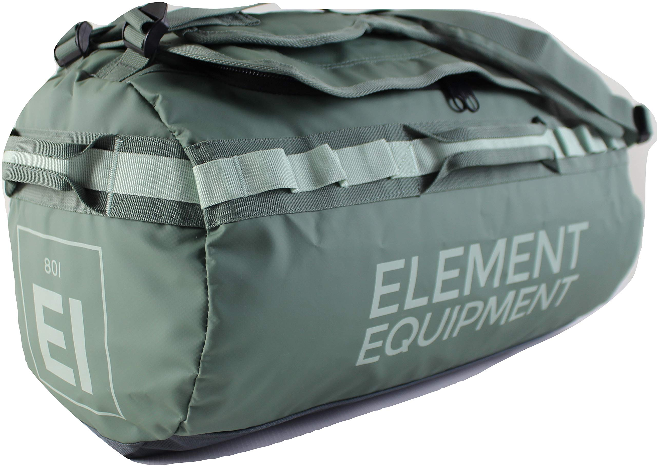 Element Equipment Trailhead Duffel Bag Shoulder Straps Waterproof Olive/Green Large