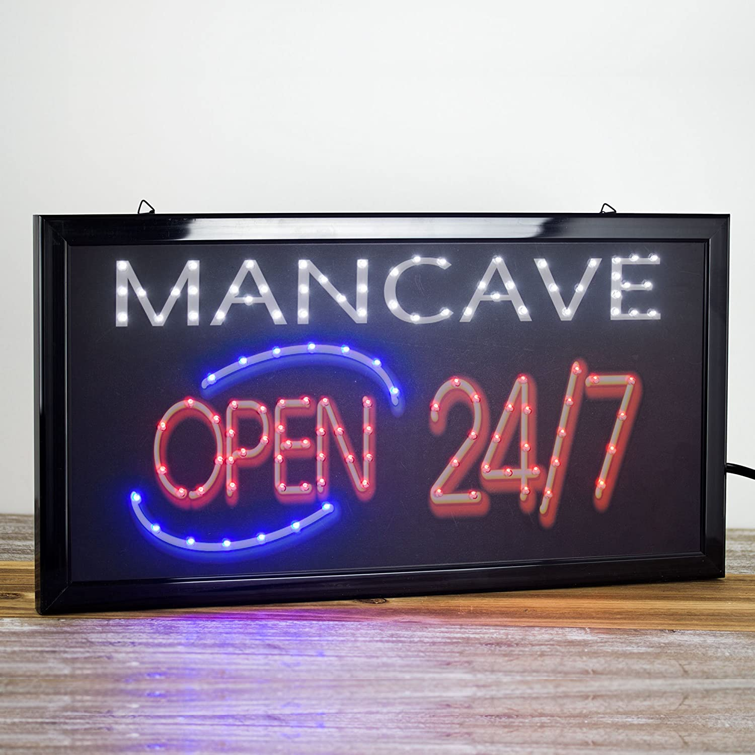 FLASHING LED MAN CAVE SIGN  3 COLOR GREAT FOR YOUR PARTY ROOM