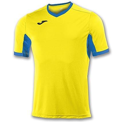 Joma Champion IV M/C Camiseta Equipamiento, Hombre, Amarillo/Royal, 2XL