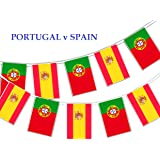 Party Decor Football World Cup 2018 - Group B 2nd Match Portugal v Spain - Bunting Banner 16 flags for simply stylish Football World Cup by