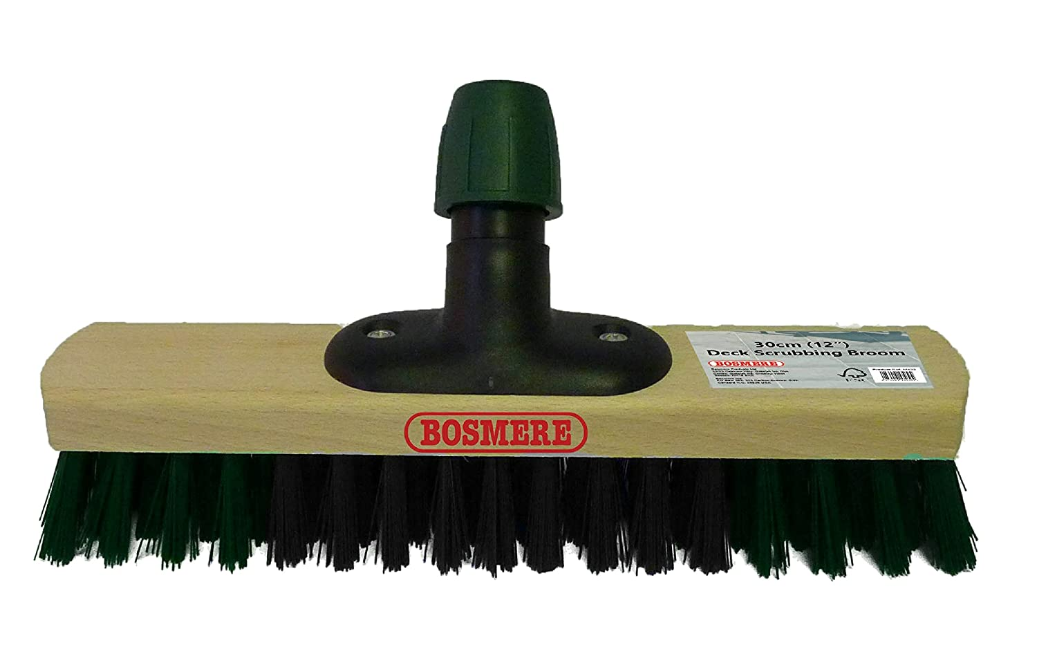 BOSMERE PRODUCTS M432 30 cm Deck Scrubbing Broom - Multi-Colour BOSMERE PRODUCTS LIMITED